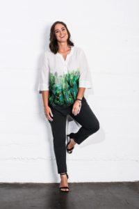Bluse von KJ Brand